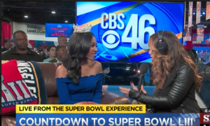 Nia Franklin at The Super Bowl